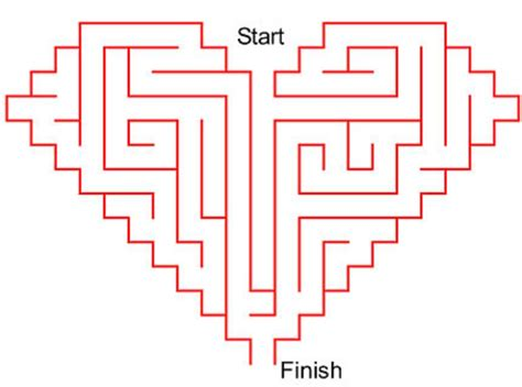 printable heart maze vale design free printable maze google da ara labirent
