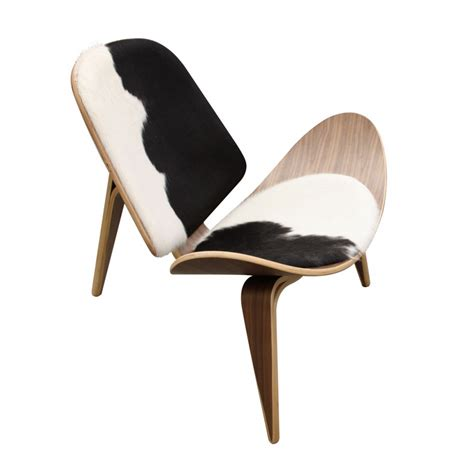 hans wegner shell chair replica in cowhide hans j