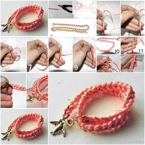 step by step jewelry how to make pink fashionable bracelet step by step diy