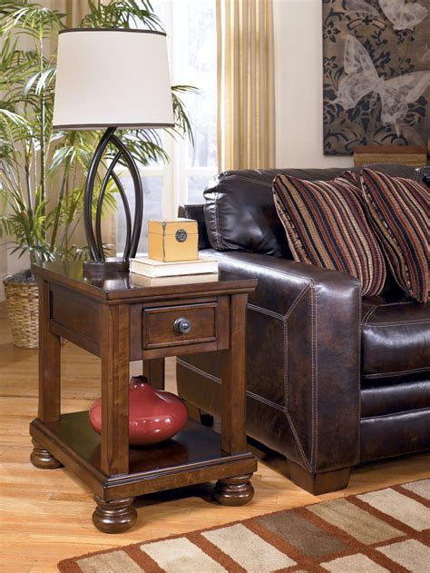 porter chairside  table  ashley   coleman furniture
