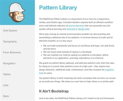 Mailchimp Pattern Library | 5 useful pattern libraries to enhance your web development