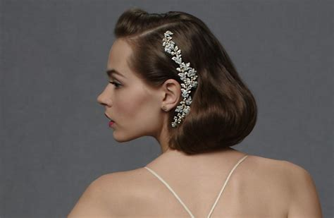 Vintage Wedding Hairstyles With Bangs by Bridals And Grooms Bidals Vintage Wedding Hairstyles With