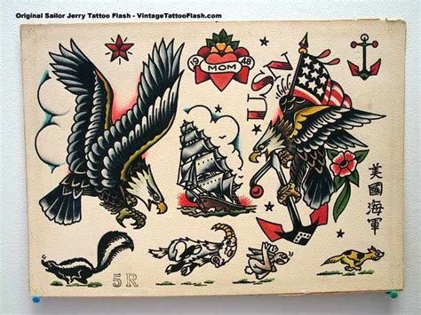 sailor jerry eagle tattoo best ideas about flash painting flash