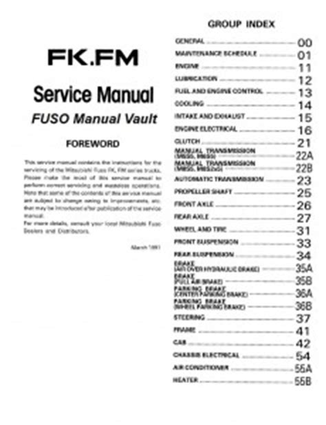 free download parts manuals 1992 mitsubishi truck auto manual 1992 1995 mitsubishi fuso fighter fk fm truck service manual pdf download
