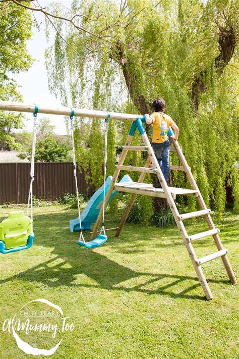 we swing too turn your garden in an adventure playground with a plum