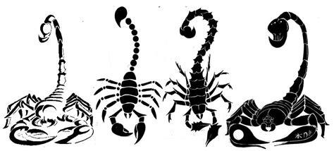 Scorpion Tribal Outline by Classic Black Scorpion Stencil