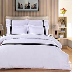 Hotel Bed Sets Buy Wholesale Black White Striped Bedding From China Black White Striped Bedding
