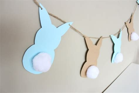 bunny garland template easter garland design improvised