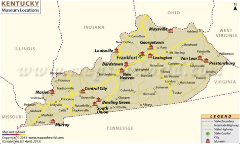 kentucky map with time zones list of museums in kentucky kentucky museum map