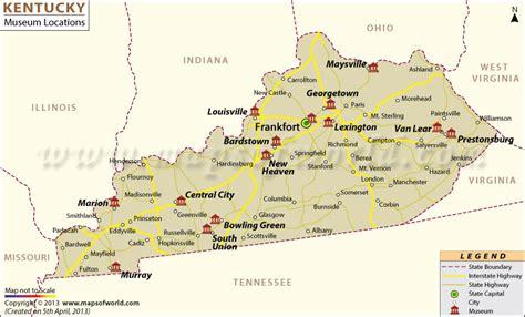 ky usa map list of museums in kentucky kentucky museum map