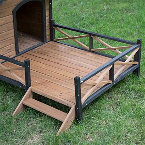 dog house with deck large dog house lodge with porch deck kennels crates solid fir wood spacious deck for