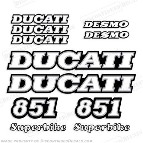 748 desmo logo 1 ducati 851 decal kit 1989 1990