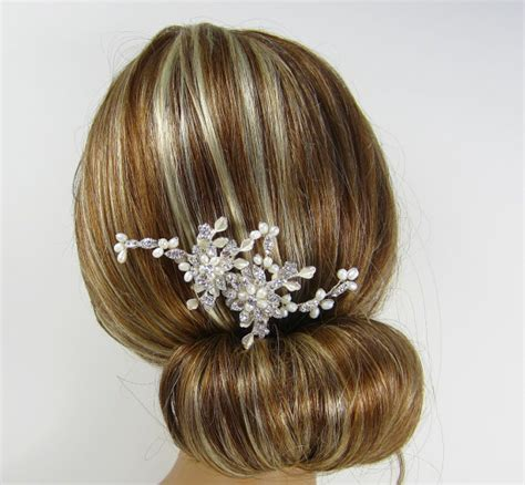 Small Dot Hair Accessories For Weddings by Pearl Flower Bridal Comb Stella Hair Comb Bridal Hair