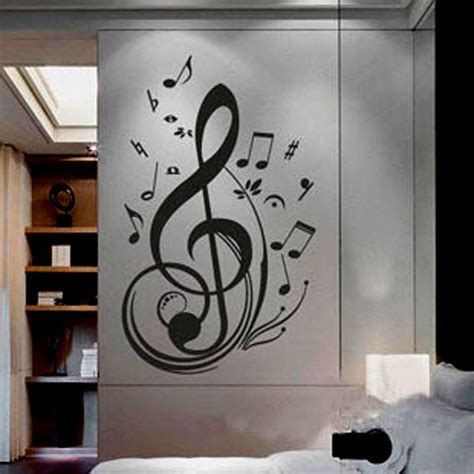music note home decor music note pattern graffiti wall decor mural decal sticker