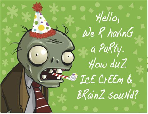 Plants Vs Zombies Invitation Template 1000 images about birthday theme on