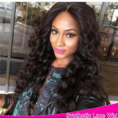 slight wave middle parting lace front synthetic wigs 12 new cute body long body wave wavy wig heat resistant