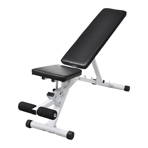 fitness benches vidaxl co uk fitness workout utility bench adjustable back up leg curl