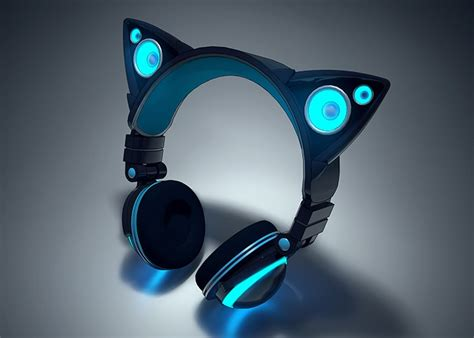 Cool Looking Speakers axent wear cat ear headphones raise over 770 000 in under
