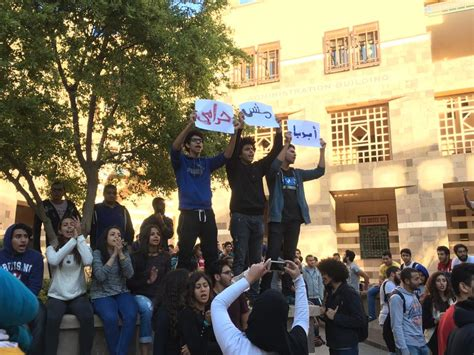 American In Cairo Mba Fees by American In Cairo Students Protest Against