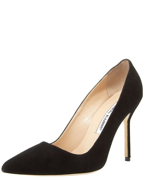manolo blahnik high heels manolo blahnik point toe high heel in gray lyst