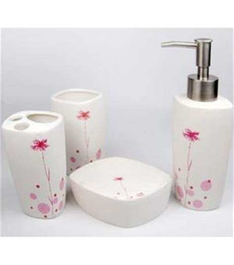 pink bathroom accessories sets bathroom design ideas