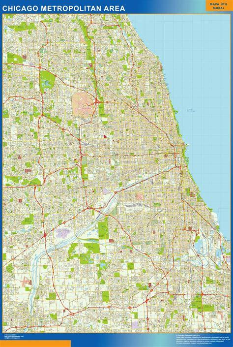 chicago mapa comprar mapa chicago mapas murales espa 241 a y el mundo