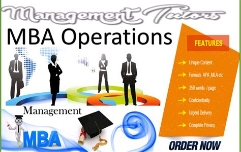 Mba Operations Management by Why Do The Students Go For Mba In Operations Management