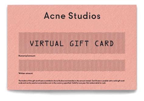 Acne Studios Gift Card - best 25 virtual gift cards ideas on pinterest korea fashion korean fashion fall