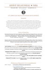 vp business development resume sles visualcv resume