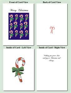 make printable cards canes design free printable cards