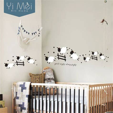 kawaii home decor aliexpress com buy kawaii cute jumping sheep wall