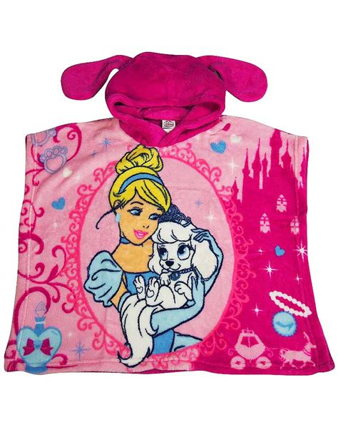 Disney Princess Bath Towel Pink disney princess palace pets hooded bath