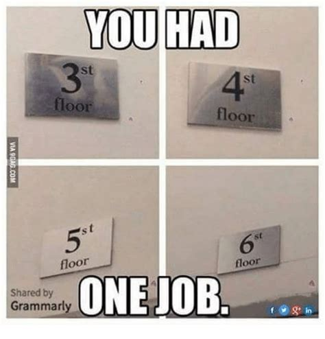 libro you had one job you had floor floor a floor floor one job shared by grammarly f v g in meme on sizzle
