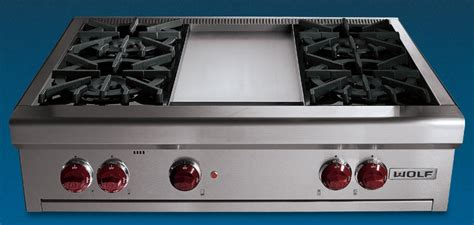 Wolf 36 Gas Cooktop Price Wolf Rt364g 36 Quot Gas Rangetop With Griddle