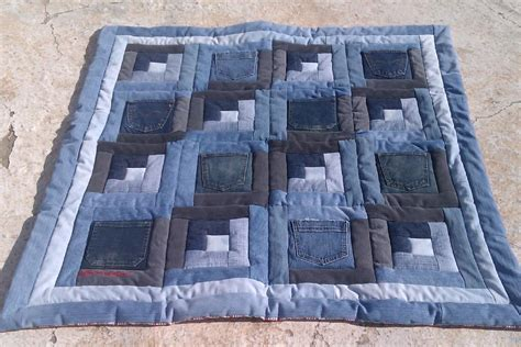 Denim Quilt Ideas by Baby Quilt Bluebaby Quilt Log Cabin Pocket Blue Jean B