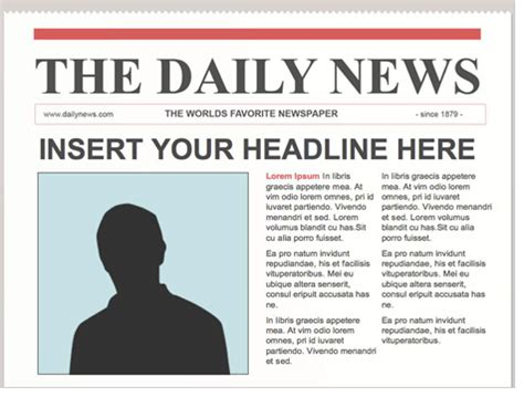Front Page Newspaper Template by Hotandthinkertools Newspaper Front Page