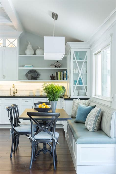gilmore design studio banquette seating  kitchen