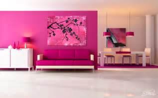 Living Room Modern Pink Cherry Blossom Dudeman S