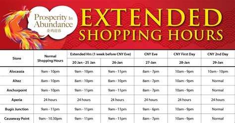 shopping hours cold storage new year extended shopping hours from