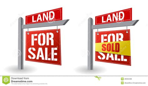 Real Pict Sale Maxy land for sale sign stock illustration image of land
