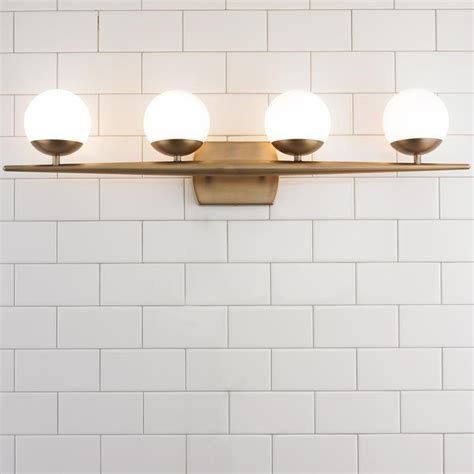 bathroom vanity light globes linear globe bath light 4 light colors natural and