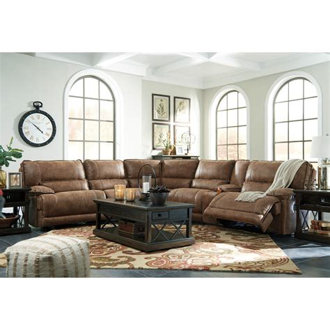 signature design sectional signature design by ashley grattis 6 piece power reclining
