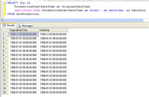 format date field in sql chopping off the time in a datetime field in sql david