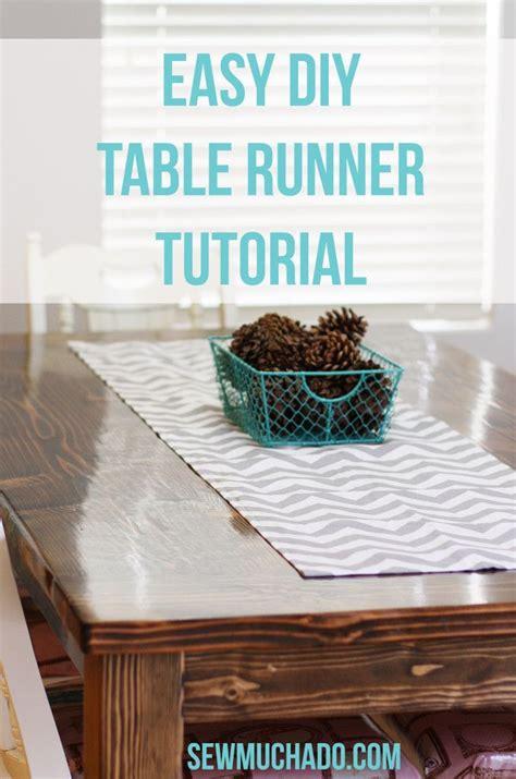 easy table runner easy diy table runner tutorial for the home