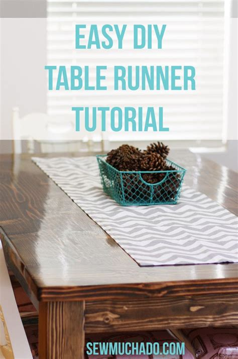 easy diy table runner tutorial for the home