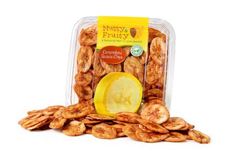 caramelized banana chips fruitland best dried fruits and nuts