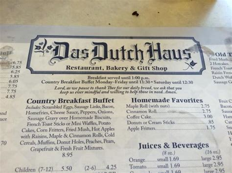 dutch house columbiana ohio das dutch haus restaurant columbiana menu prices restaurant reviews tripadvisor