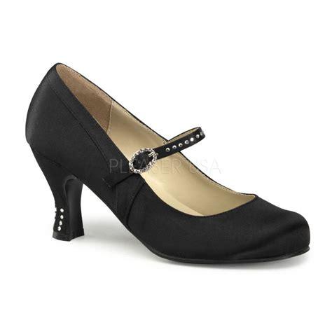 flapper shoes black satin 1920s flapper period costume shoes kitten