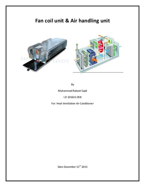 fan coil unit pdf fan coil unit air handling unit