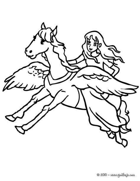 imagenes de unicornios volando dibujos para colorear pegaso y hada es hellokids com